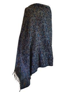 Cashmillon shawl- Black Paisley