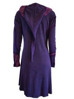 Pixie hood lace jacket- Purple
