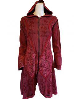 Pixie hood lace jacket- Red