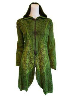 Pixie hood lace jacket- Green