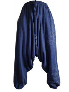 Tree of life harem trousers: Navy