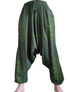 Tree of life harem trousers: Green