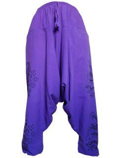 Tree of life harem trousers: Purple