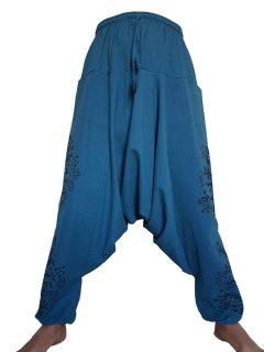 Tree of life harem trousers: Teal