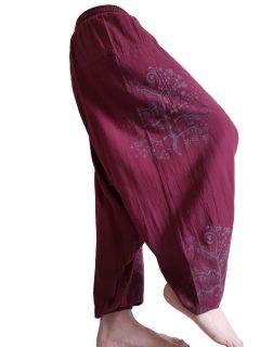 Tree of life harem trousers: Maroon