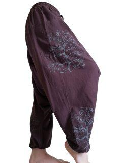 Tree of life harem trousers: Brown