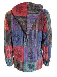 Pixie hood patchwork shirt