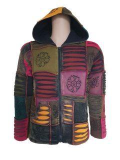Patchwork Ribbed Jacket – Rainbow