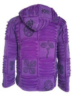 Patchwork Ribbed Jacket – Purple