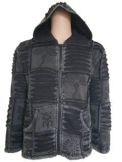 Patchwork Ribbed Jacket – Black