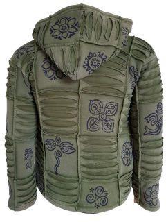 Patchwork Ribbed Jacket – Green