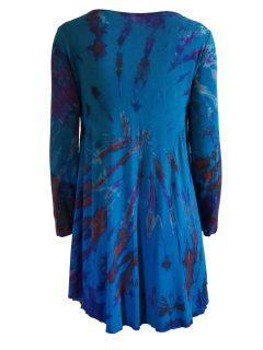 Tie dye long sleeved tunic – Teal