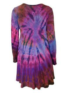 Tie dye long sleeved tunic – Purple