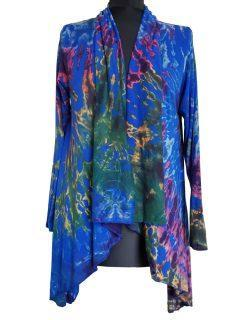 Tie dye Waterfall Cardigan- Royal Blue
