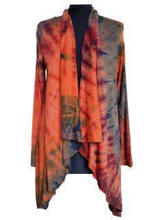 Tie dye Waterfall Cardigan- Orange