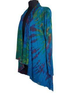 Tie dye Waterfall Cardigan- Teal