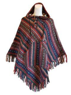 Orange and Brown Striped poncho