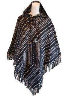 Black and White Striped poncho