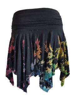 Tie dye pixie mini skirt – Half Multi