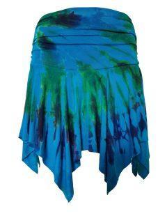 Tie dye pixie mini skirt – Turqoise