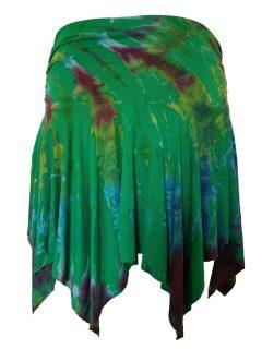 Tie dye pixie mini skirt – Emerald Green