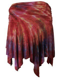 Tie dye pixie skirt – Crimson
