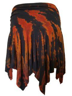 Tie dye pixie skirt – Black and Orange