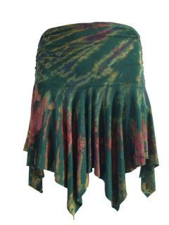 Tie dye pixie skirt – Forest Green