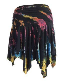 Tie dye pixie mini skirt – Multi