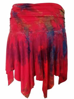 Tie dye pixie mini skirt – Red