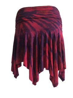 Tie dye pixie skirt – Red