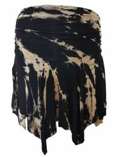 Tie dye pixie mini skirt – Black and White
