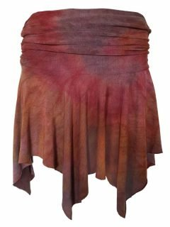 Tie dye pixie mini skirt – Dusty Purple