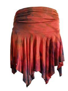 Tie dye pixie skirt – Orange