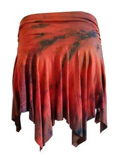 Tie dye pixie mini skirt – Orange