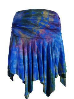 Tie dye pixie mini skirt – Royal Blue