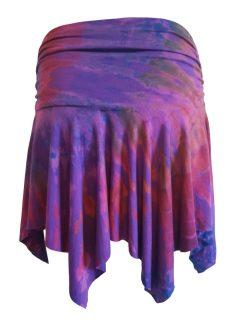 Tie dye pixie mini skirt – Purple