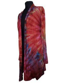 Tie dye Cardigan- Crimson