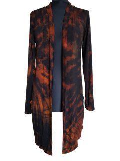 Tie dye Cardigan- Black and Orange