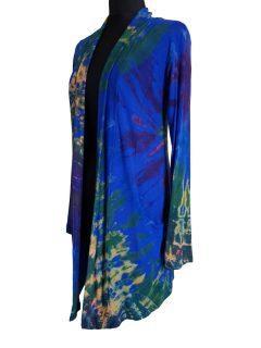 Tie dye Cardigan- Royal Blue