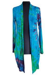 Tie dye Cardigan- Turquoise