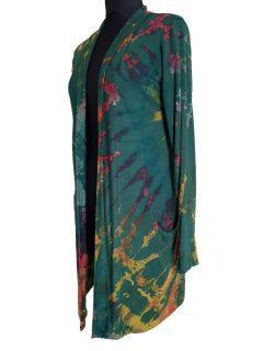 Tie dye Cardigan- Forest Green
