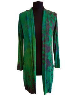 Tie dye Cardigan- Emerald Green