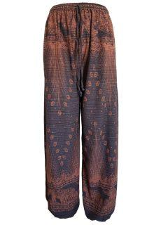 Elephant and peacock alibaba trousers – Brown