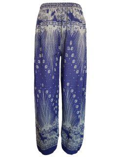 Elephant and peacock alibaba trousers – Purple