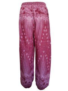 Elephant and peacock alibaba trousers – Red