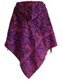 Paisley poncho – Royal Blue