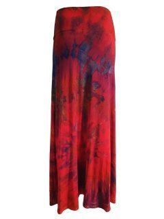 Tie dye skirt: Red