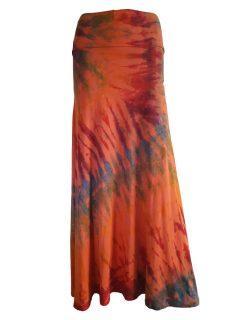 Tie dye skirt- Orange