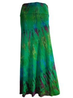 Tie dye skirt: Emerald Green